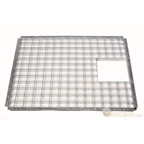 Fedőrács acél 72 x 39,5 cm