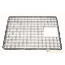 Fedőrács acél 71,5 x 41,5 cm