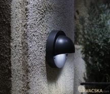 Garden Lights Deimos fali lámpa, fekete, LED 1W. meleg fehér