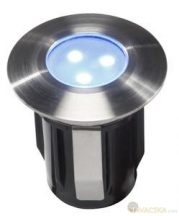 Garden Lights Alpha, süllyesztett lámpa, rozsdamentes LED 0,5W kék IP68