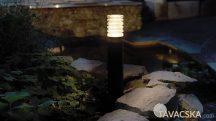 Garden Lights ARCO 40 álló kerti lámpa, aluminium/üveg- fekete, LED 3W, meleg fehér