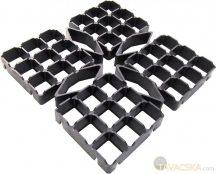 Gyeprács fekete 48 x 48 cm  /0,23 m2/ fekete