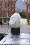 Téli takaró fólia zsinórral,bézs átm.100x1,5
