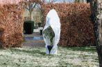 Téli takaró fólia zipzárral, fehér átm.250