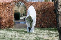 Téli takaró fólia zipzárral, fehér átm.150