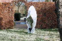 Téli takaró fólia zipzárral, fehér átm.200