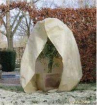Téli takaró fólia zipzárral, beige,átm.150