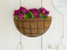 Virágtartó kosár függő félkör 35 cm