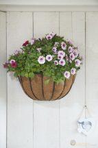 Virágtartó fali félkör alakú 40 cm