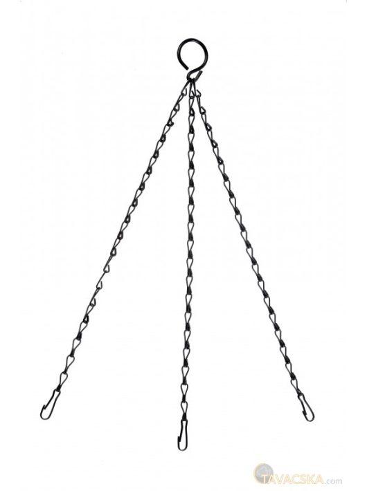Galvanizált lánc fekete színben 35 cm