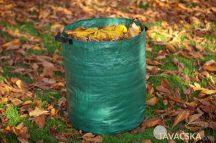 Lombgyűjtő zöld zsák 120l