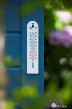 Fali fehér hőmérő