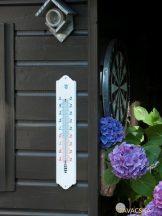 Hőmérő fehér műanyag 50*10