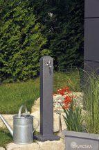 """Kerti kút """"Poller""""  színe fekete gránit, 90x12x12 cm, PE"""