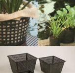 Vízinövény kosár-, tasak, föld